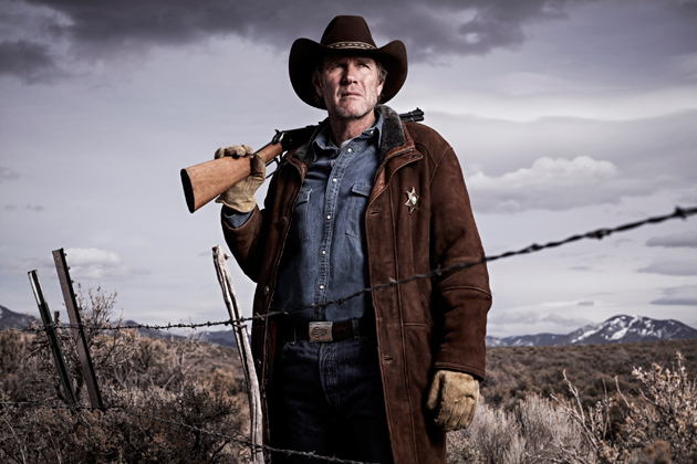 Robert Taylor as Sheriff Longmire in A&E's series Longmire