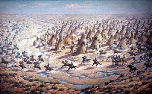 Attack on Sand Creek Courtesy of the Colorado Historical Society