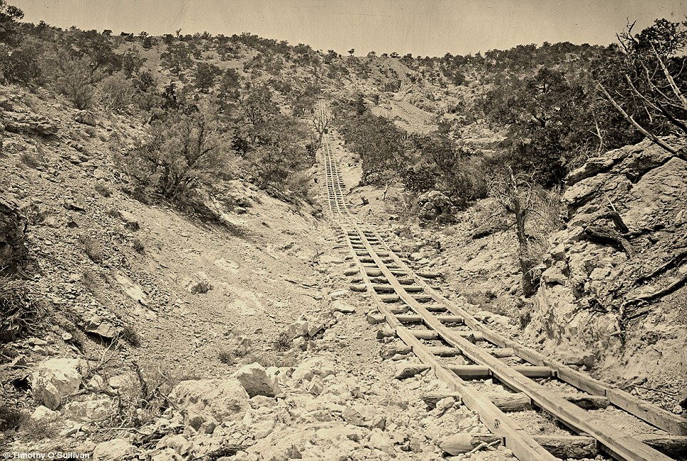 Gold Mine Incline Photograph by Timothy O'Sullivan